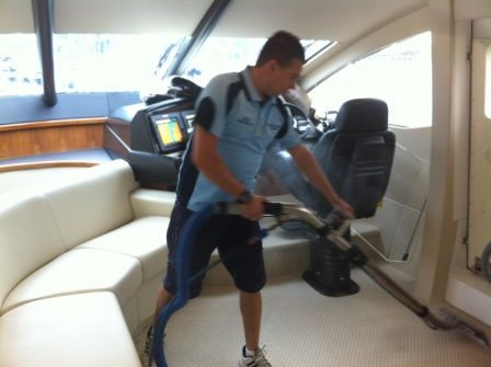 Boat Carpet Cleaning Sydney In Action